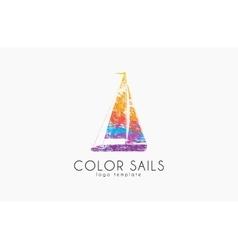 Sails logo Color sails Boat logo Sailing logo vector image vector image