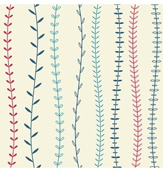 seamless decorative floral pattern vector image