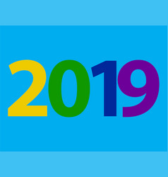 2019 happy new year design with text on vector image