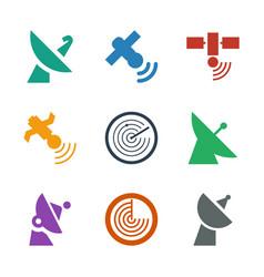 9 radar icons vector