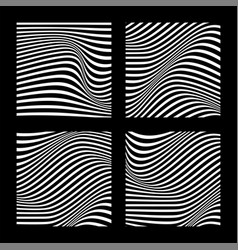 Abstract backgrounds with wavy lines vector