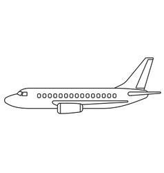 Aeroplane contour vector