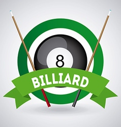 Billiard play design vector