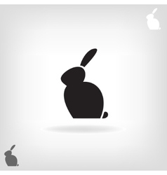 Black stylized silhouette of a rabbit vector image