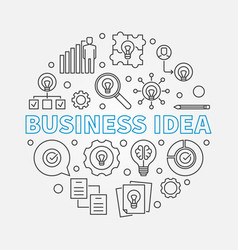 business idea circular in vector image