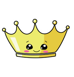 cartoon gold crown for vector image
