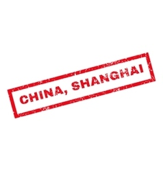 China Shanghai Rubber Stamp vector