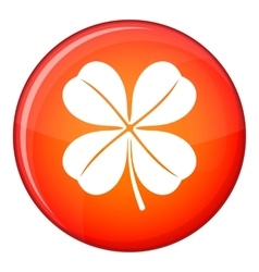 Clover leaf icon flat style vector