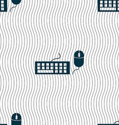 Computer keyboard and mouse Icon Seamless pattern vector image
