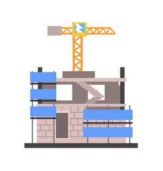 Construction of a modern building vector