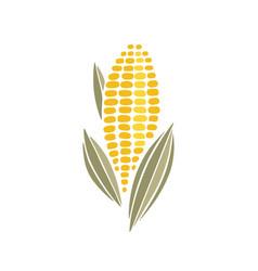 corn cob simple icon design vector image