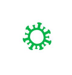 coronavirus icon green simple symbol virus and vector image