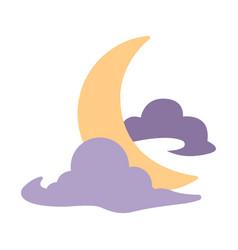 Crescent moon flat vector