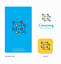 cube company logo app icon and splash page design vector image