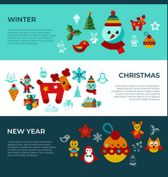 digital merry christmas and new year vector image