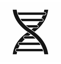 DNA icon simple style vector image