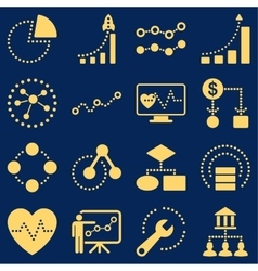 Dotted infographic business icons vector