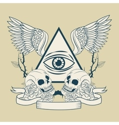 Eye of providence tattoo art design vector