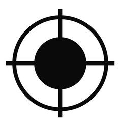 Far target icon simple style vector