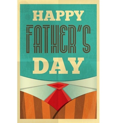 Fathers day poster suit vector