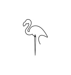 Flamingo icon vector