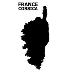 Flat map corsica with caption vector