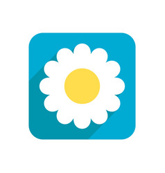 Flower flat icon object isolated on white vector