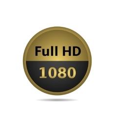 Full HD sign vector