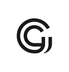 G letter logo formed two parallel lines with vector