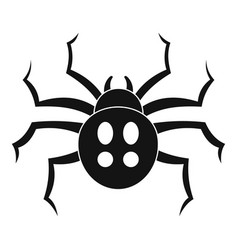 garden spider icon simple style vector image