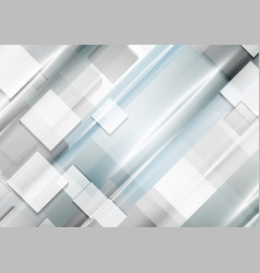 Grey blue technology geometric abstract background vector