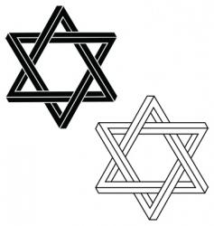 Jewish star of david vector