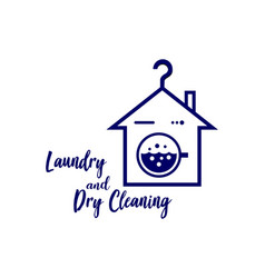 Laundry logo emblems and design vector