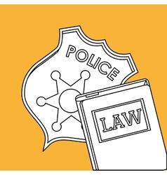 Law design Justice icon Grey background vector image