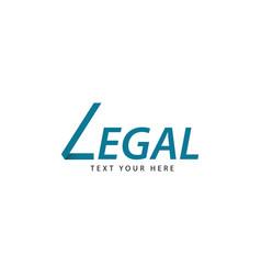 Legal logo template design vector