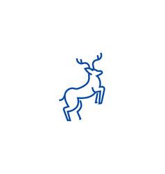 line deer line icon concept line vector image