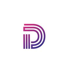 Luxury logotype premium letter d logo with modern vector