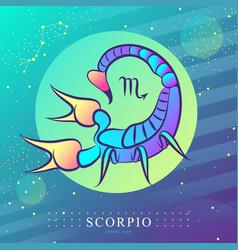 Magic card with astrology scorpio zodiac sign vector