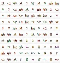 Mega set of 100 letter logos vector image