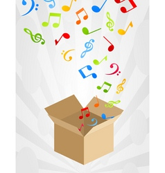 musical box vector image vector image