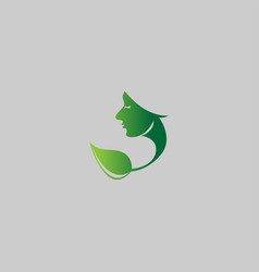 Nature face on grey background vector