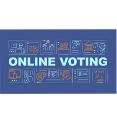 Online voting word concepts banner vector