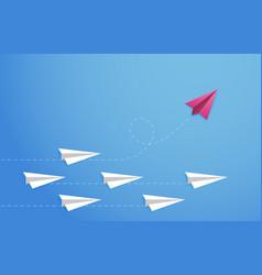 paper plane concept changes direction different vector image