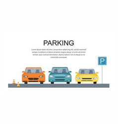 parking lot design park icon vector image