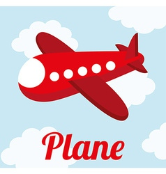 plane cute design vector image