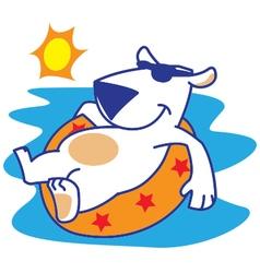 Polar Bear Sunbathing vector