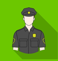 policemanprofessions single icon in flat style vector image