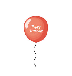 red birthday balloon vector image