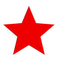Red star - icon vector