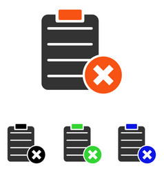 Reject form flat icon vector